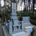 K様:津山型1尺角上下蓮華四重台「代々墓」及び巻石工事