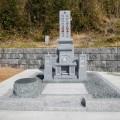 新田様:津山型9寸角布団四重台「夫婦墓」及び巻石工事