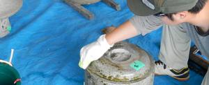 石のクリーニング