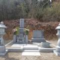 水島家様:津山型9寸角布団四重台・戒名柱(代々墓)巻石工事