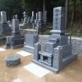 柳井家様:津山型1尺角布団四重台・戒名柱(代々墓)