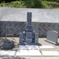 植田家様:津山型8寸角布団四重台・櫛形石碑