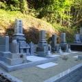 片山家様:津山型1尺角布団四重台・戒名柱(代々墓)巻石工事