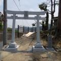 野上神社(松中町内会)様:7尺八幡鳥居工事