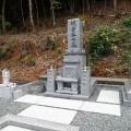 梶谷家様:岡山型1尺角蓮華四重台・戒名柱(代々墓)巻石工事