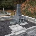 小早川家様:岡山型9寸角布団四重台 墓石工事