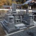 安東家様 津山型1尺角布団重台代々墓及び巻石(本研磨)工事