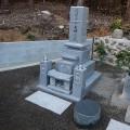 岡澤家様:津山型9寸角布団四重台 夫婦墓工事