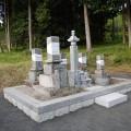 甲本家様:6寸角供養塔2重台寄せ墓工事