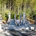 時尾家様:津山型1尺角布団四重台及び既存墓石移転工事