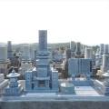山崎家様:津山型1尺角布団蓮華5重台及び既存墓石組替え工事