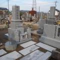 中村家様:津山型9寸角布団四重台代々墓 墓石工事