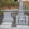 山本家様:津山型9寸角蓮華4重台及び既存墓石組替え工事