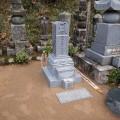 行本家様 8寸角下蓮華2重台 墓石工事