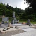 谷口家様:津山型1尺角布団四重台代々墓/庭園型墓所工事