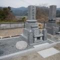 小田家様:津山型1尺角布団四重台代々墓及び既存墓石据替工事