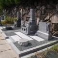 万代家様:津山型9寸角布団四重台代々墓及び巻石本研磨工事
