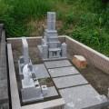 余座様:津山型8寸角布団四重台代々墓及び地蔵尊工事