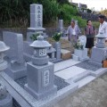 森本家様:津山型9寸角布団四重台代々墓及び巻石本研磨工事