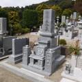 M様:津山型1尺角布団四重台代々墓工事(天山石)
