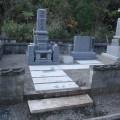 佐野家様:津山型9寸角布団四重台代々墓工事(石種:PGA)