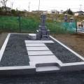 山本家様:津山型8寸角2重台夫婦墓及び巻石(本研磨)工事