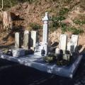 茂渡家様:6寸角供養塔2重台及び寄墓工事・巻石(本研磨)工事