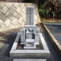 時尾家様:津山型8寸角2重台個人墓工事(石種キャサリンブルー)