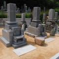 田外家様:津山型1尺角夫婦墓【香川県産青木石】