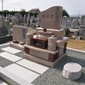 河﨑家様:オリジナルデザイン墓石『奏Ⅱ』工事