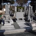 池田様:6寸角供養塔2重台・墓石のお片付け巻石工事