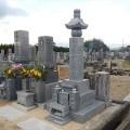 日原家様:7寸角供養塔三重台及び既存墓石据替工事