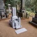 神谷家様 7寸角2重台神戸型墓石工事