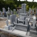 永禮家様 津山型9寸角2重台地上納骨型 代々墓工事