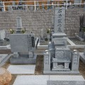石井様:津山型9寸角布団4重台(大島石)代々墓工事