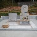 山本家様:自然石碑地上納骨型(岡山県産万成石)代々墓工事