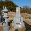 小林家様:8寸角三重台夫婦墓工事(青木石)